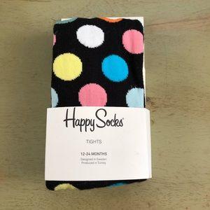Happy Socks Polka Dot Tights Sz 12-24 Months NEW!